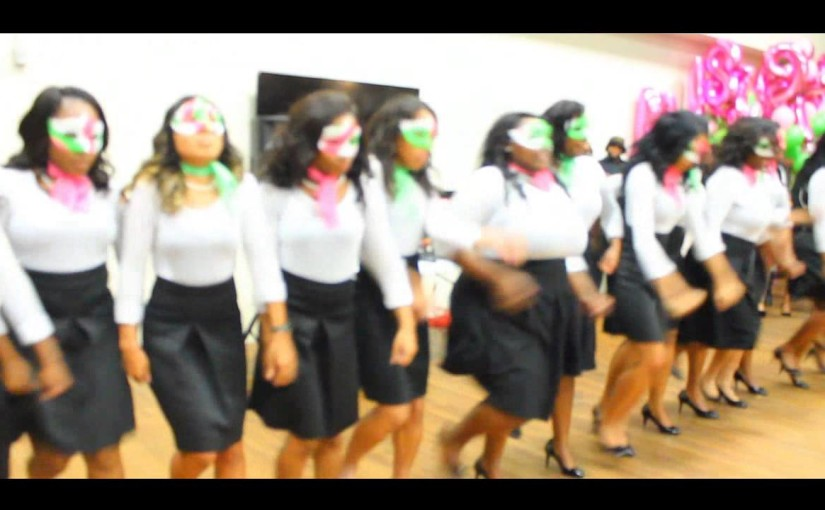 Alpha Kappa Alpha Sorority Inc (Tau Upsilon Chapter) Fall 15 Probate x ShotBy@WhoIsCjJones