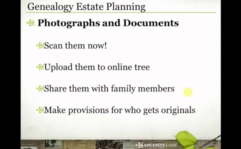 Genealogy Estate Planning